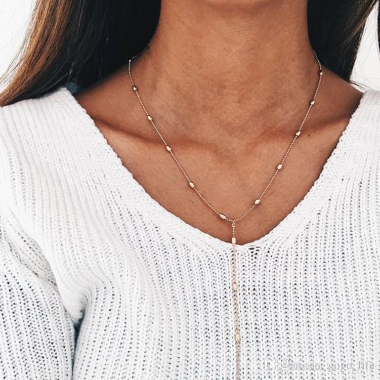 3pcs Gold Layered Halskette 3 Schichten Kette gehämmert Disc Long Bar Layered Halskette Schlüsselbein Kette für Frauen versandkostenfrei