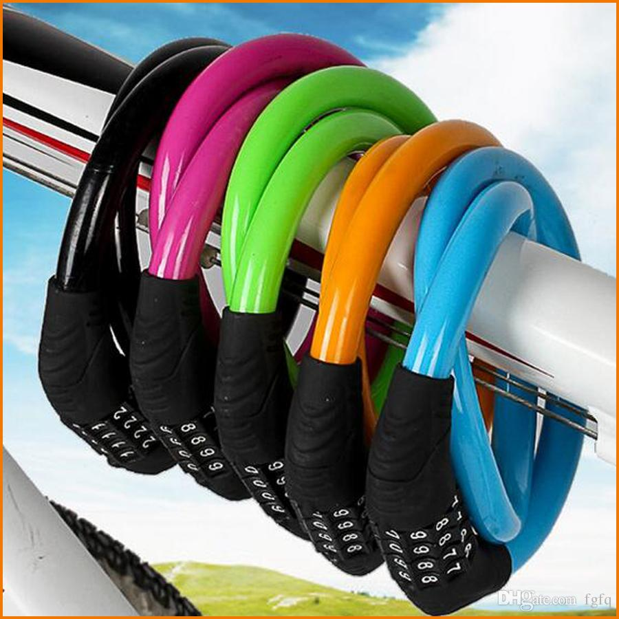 Bike Bicycle lock, Cycling Security Code Password Lock 12 x 600mm Bike Cable Lock 4 Digital Combination For MTB