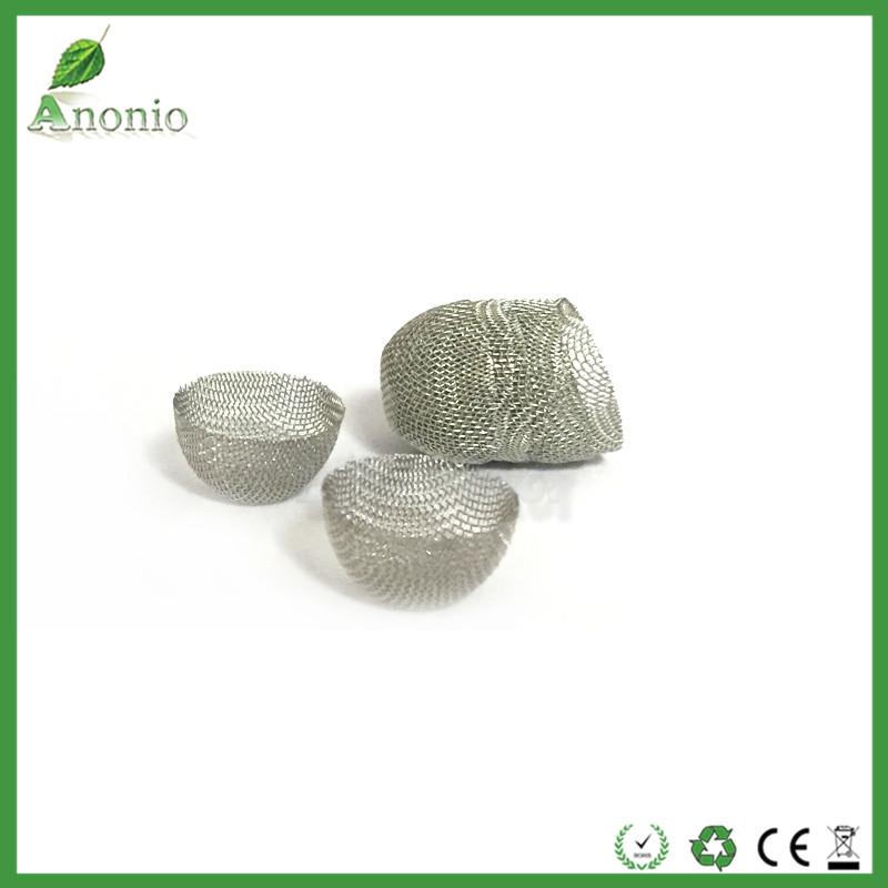 Hot Sale 60 Mesh 12mm Round Diameter 8mm height 304 Stainless Steel Domed Bowl Silver Screens Smoking Pipe Filter screen