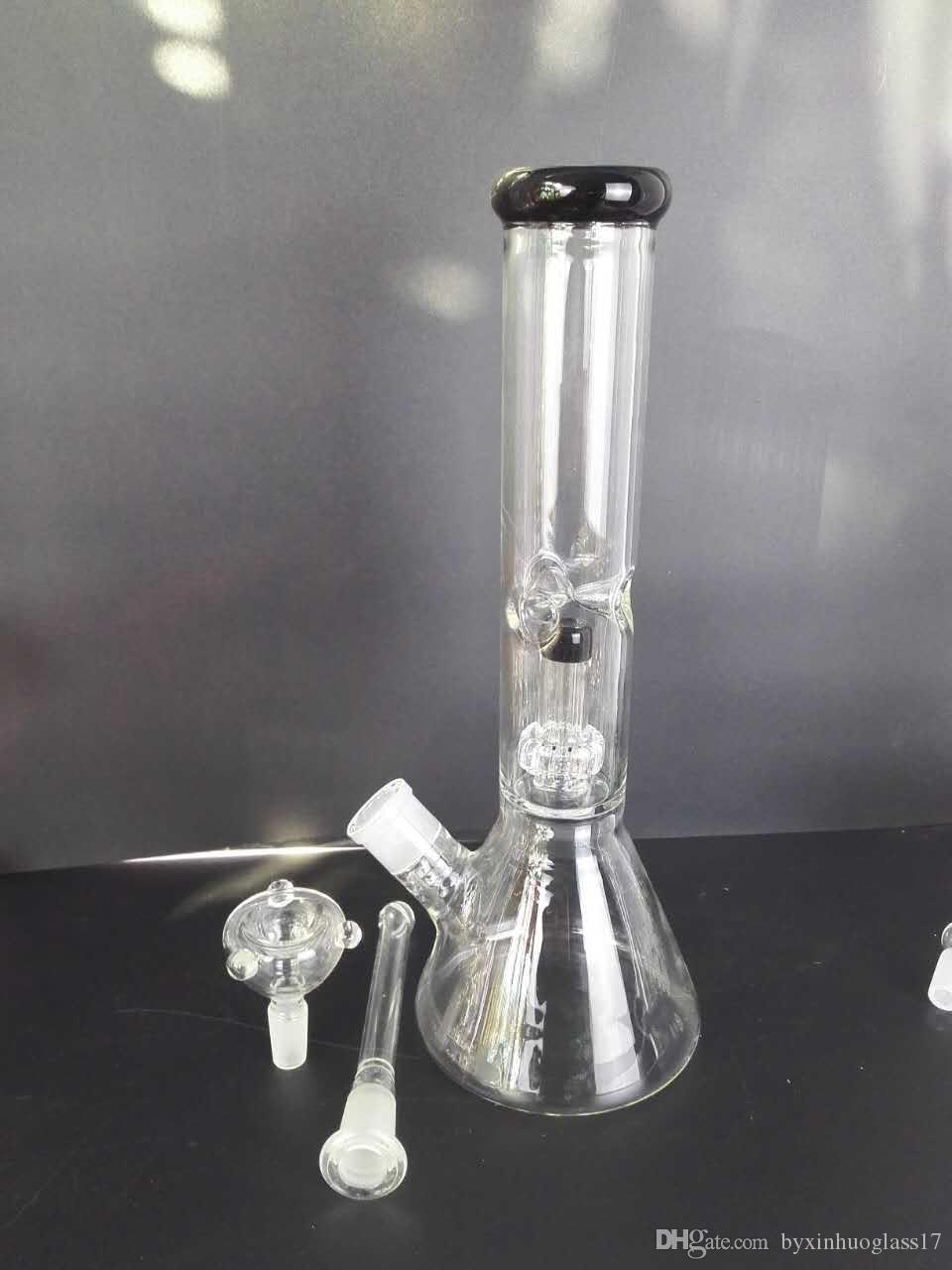 Pipe en verre triangulaire haut de 30 cm pour narguilé, bang en verre noir