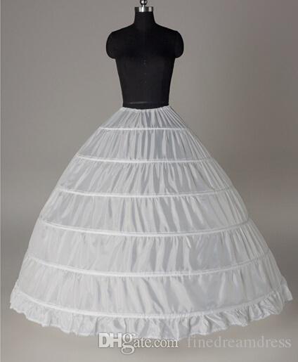 In magazzino A buon mercato SIX Hoops Ball Gown sottoveste Slip da sposa Crinolina per una linea Ball Gowns Abiti da sposa Quinceanera Prom