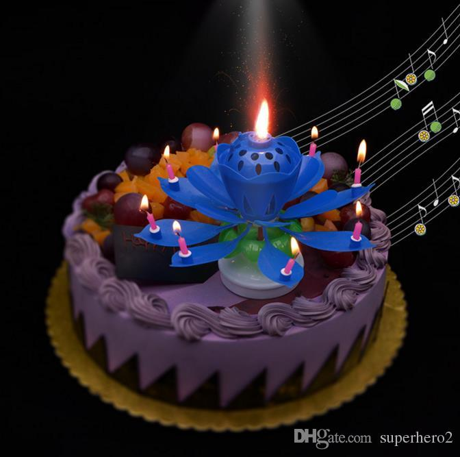 Pleasant 2020 2 Layers Magic Music Candle Birthday Party Wedding Rainbow Funny Birthday Cards Online Aboleapandamsfinfo