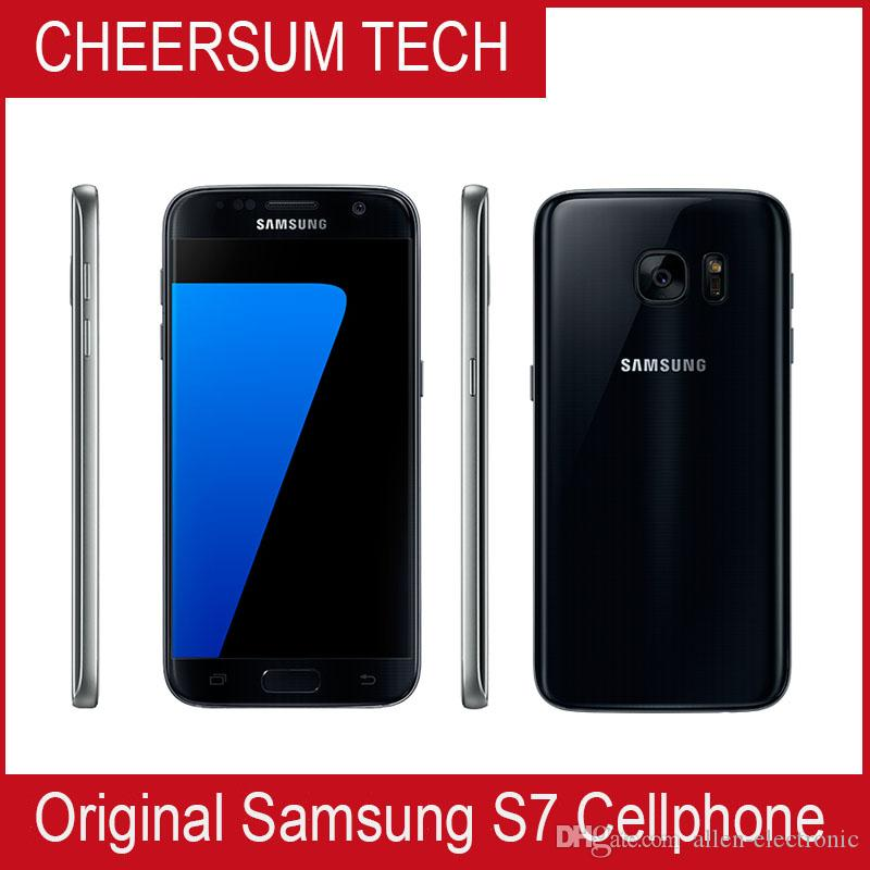 الأصلي سامسونج غالاكسي S7 G930A G930T G930P G930V مقفلة الهاتف Octa Core 4GB / 32GB 5.112MP بوصة تم تجديده Samsung الهاتف الذكي