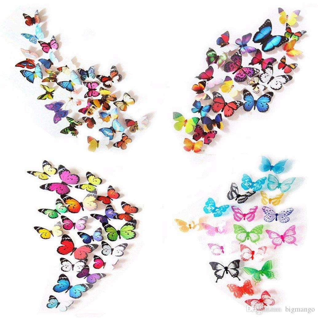 3d Colorful Butterfly Wall Stickers Diy Art Decor Crafts For Nursery Room Classroom Offices Kids Bedroom Bathroom Living Room Wall Quote Decals Wall