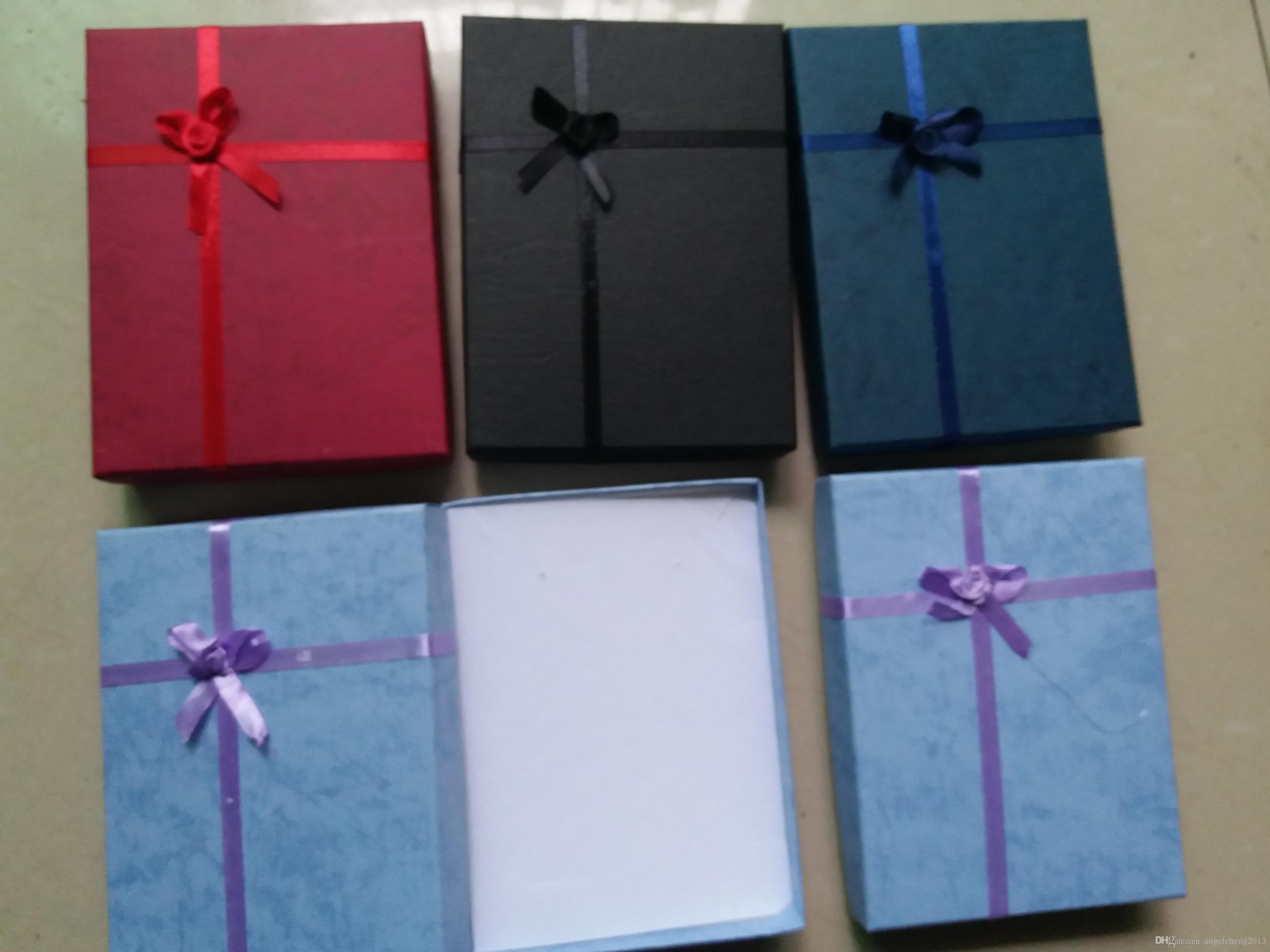 16cm * 12cm * 3cmのパッキングバッグディスプレイボックス、ジュエリーボックス、リングブレスレット、バングルネックレスボックス、ギフトボックス、12ピース/ロット、ランダムカラー