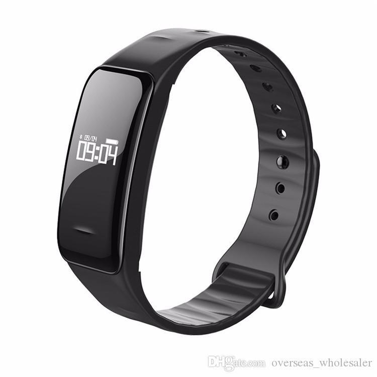 Blutdruckmessgerät Sauerstoffmessgerät Herzfrequenzband C1 IP67 Wasserdicht Schrittzähler Wecker Smart Armband für Ihre Gesundheit Armbanduhr