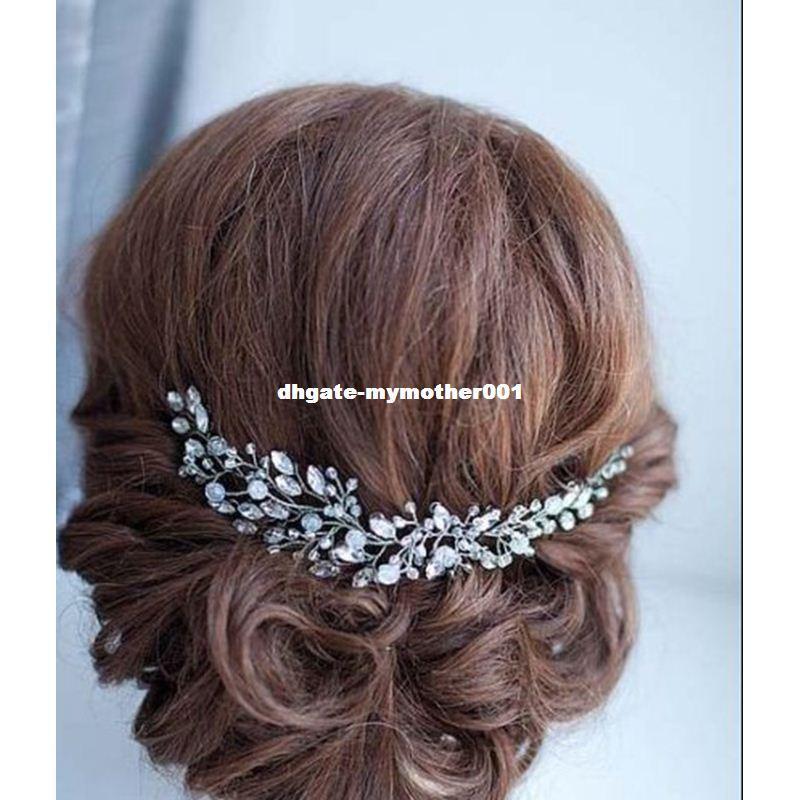 Cadenas cristales del Rhinestone suave diadema pelo de la joyería de la novia de la boda del pelo nupcial partido de las mujeres accesorios de la venda TD23