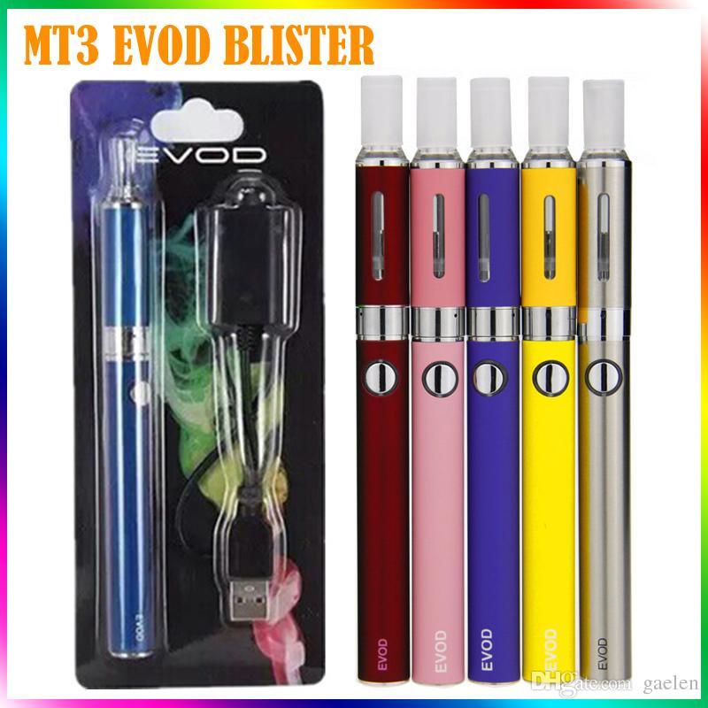 MT3 EVOD Blister Kits Mt3 Atomizador Evod Battery Ego Evod Mt3 Kits 650mah 900mah 1100mah 510 Hilos Cartucho de batería E Kits de cigarrillos