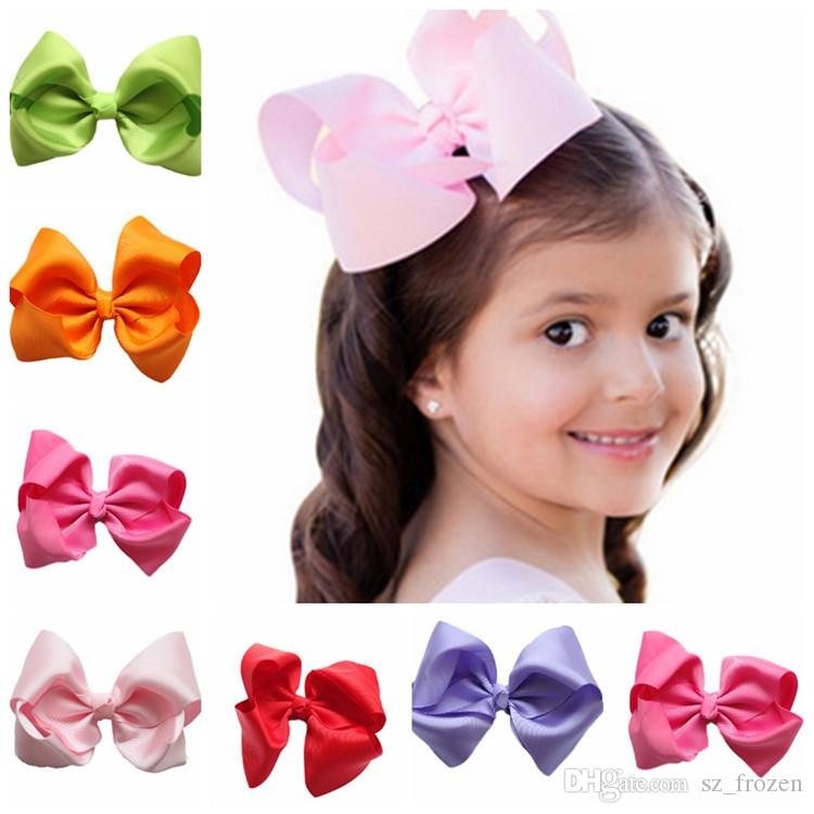 NEW Fashion Boutique Ribbon Bows For Hair Bows Hairpin Hair accessories Child Hairbows flower hairbands girls cheer bows Free shipping