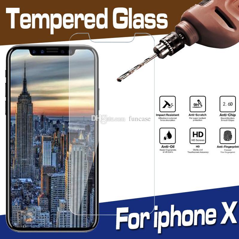 9H Premium Esplosione trasparente dello schermo in vetro temperato proteggi Pellicola per iPhone 12 Mini 11 Pro Max XS XR X 8 7 6 6S Plus SE 2020