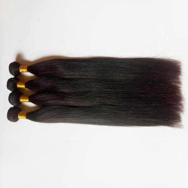 Factory Direct Sale Wholesale Unprocesse Brazilian virgin Hair 3 4 5Pc good ratio full and thick healthy end Silky Straight Indian remy Hair