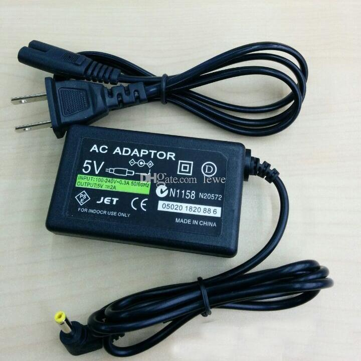 الولايات المتحدة الاتحاد الأوروبي الجدار شاحن AC محول التيار الكهربائي لسوني PSP 1000 2000 3000 مع صندوق البيع بالتجزئة