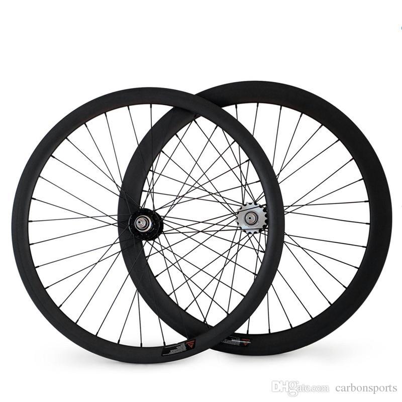 700C 23mm Width Rear Fixed Gear Track Bike Carbon Wheels Clincher/Tubular bicycle 32-32 holes Wheelset