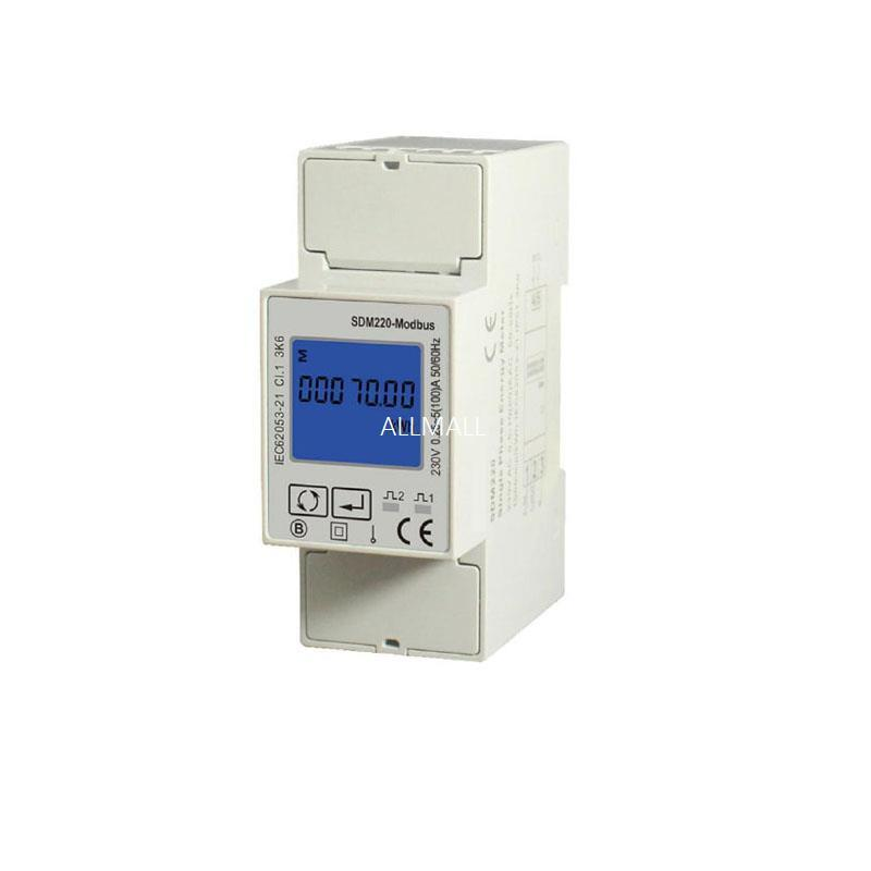 Freeshipping Single Phase 230V Din Rail Meter Electricity Kwh Meter Multi-function Energy Meter with RS485 Modbus output
