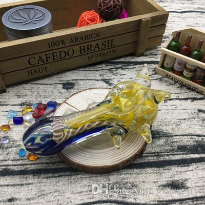 Incredibili accessori per fumatori Colorati per il fumo di olio Rigs Tubi di vetro Bong di tabacco Mini tubo per mani Narghilè Tubi di acqua 4.3 pollici