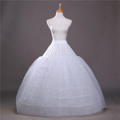 Ucuz Balo Petticoats İçin Gelinlik Elastik 6 Hoops Bir Katmanlar Elbise Jüpon Crinoline Düğün Aksesuarları 2017