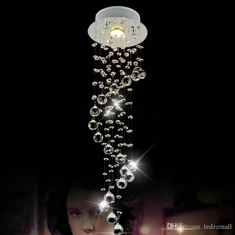 ... Moderne Clear Waterford Spirale Kugel LED Glanz Kristall Kronleuchter  Deckenleuchte Home Decor Suspension Pendelleuchte Befestigung Licht ...