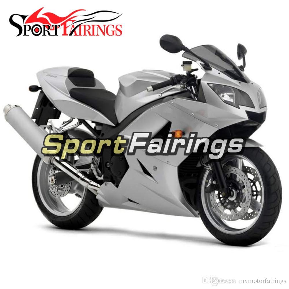 Carenados completos de plata para TRIUMPH DAYTONA 600 650 03 04 05 ABS Plastics Kit de carenado de motocicleta Marcos Paneles de motos de cubierta