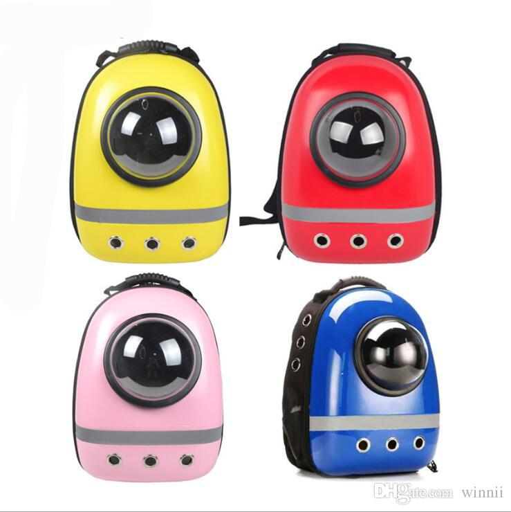 New Space Capsule Shaped Pet Carrier Breathable backpack PC dog outside Travel portable Hot cat bags
