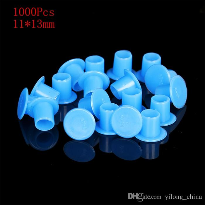YILONG Tattoo Ink Cup Caps 6.7*9.2mm 1000PCS Pigment Supplies Plastic Self-Standing Ink Cups Free Shipping