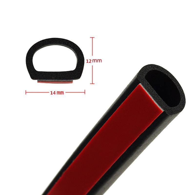 3 М/Лот Двери Автомобиля Автомобиля Уплотнение Резиновые Полые Воздуха Герметичный Клей Газа D-Типа