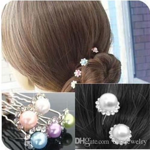 Haarschmuck Perlen Schmuck Hochzeit Braut Perle Haarnadeln Blume Kristall Strass Diamante Haarnadeln Clips Brautjungfer Frauen Stirnbänder