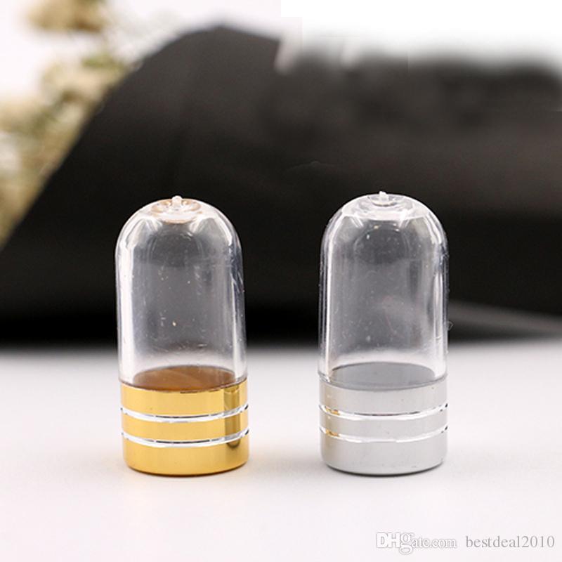 Gold Silver single grain loading capsule bottle packaging Box Case Bottle Capsule Storage Container Travel Splitters