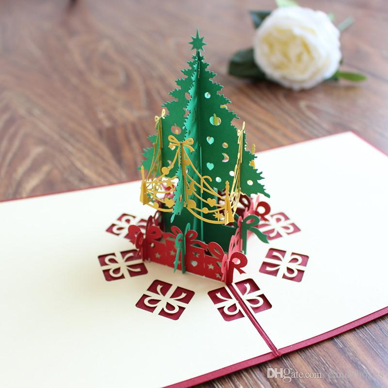Christmas Pop Up Cards.Christmas Pop Up Greet Card 3d Greeting Cards Gift Card For Christmas Congratulation Birthday Or Wedding Day Happy Birthdays Cards Holiday Card From