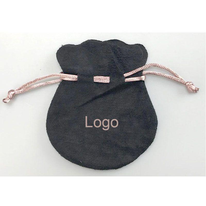 Pink Ribbon Black Velvet Bags Fit Pandora Estilo Europeu Beads Encantos e Pulseiras Colares de Jóias Moda Pingente Bolsas