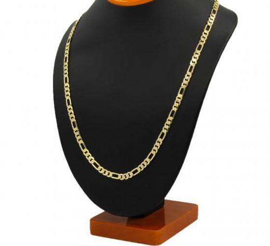 Мужские 14 K желтый настоящее твердое золото GF 8 мм итальянский Фигаро звено цепи ожерелье 24 дюймов бесплатная доставка все предметы из дома для некурящих, домашних животных