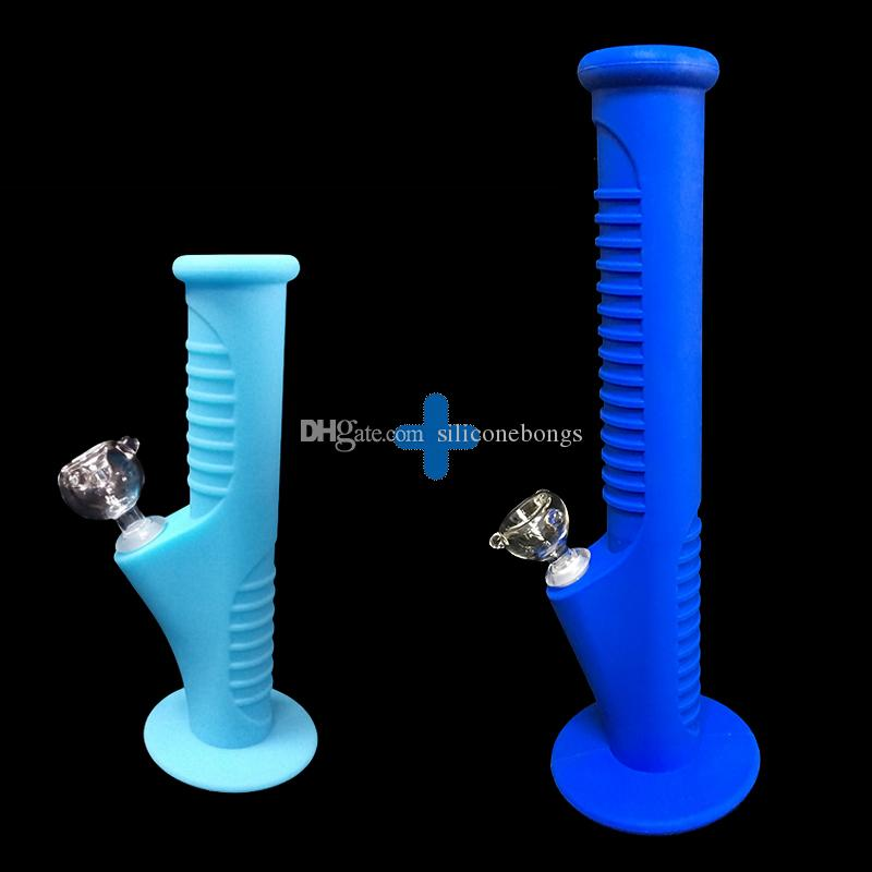 06Free shipping 2017 Colorfuls new set Silicone Mini Water Pipes and Silicone Water Pipes glass bongs glass pipes water bongs