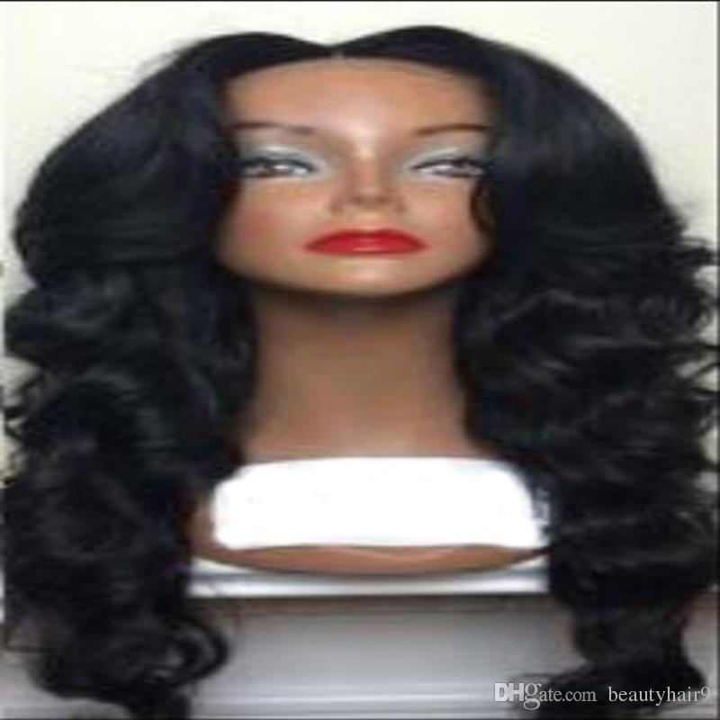 Лучшие продажи волна парик моделирование человеческих волос парик волна бразильский девственные волосы красоты парики естественный цвет для чернокожих женщин
