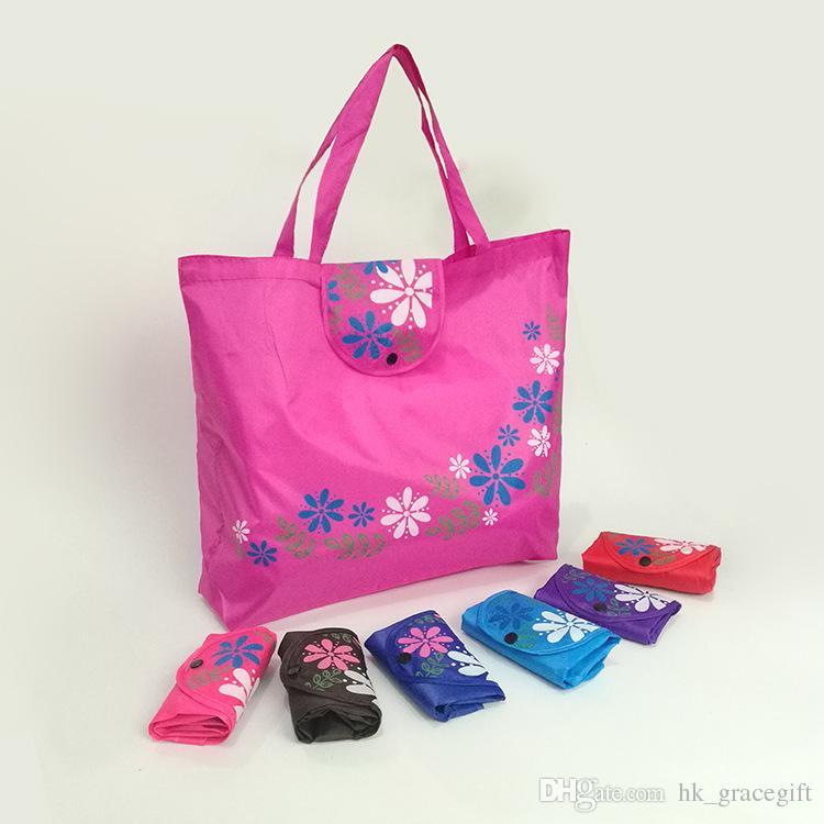 للطي مشبك أكياس التسوق 210D أكسفورد القماش حقائب البيئية حمل الحقائب التخصيص LOGO