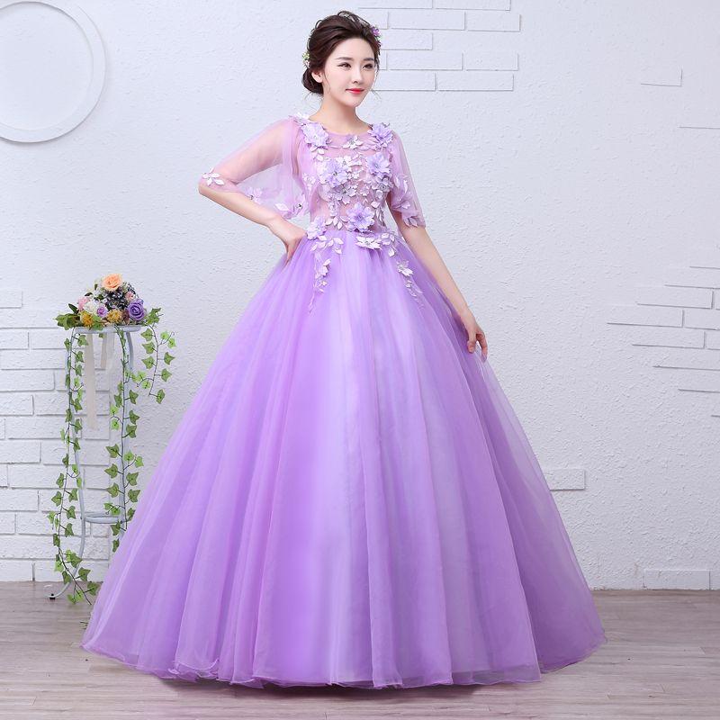Velnosa Purple Princess Organza New Summer Girls Wedding Dress 2017 ...