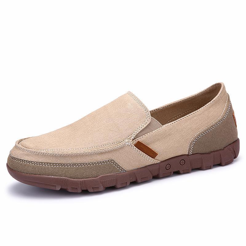 2020 New Herren Schuhe plus Größe 38-48 Männer Wohnungen Qualitäts-beiläufige Mann-Segeltuch-Schuhe Große Größen-handgemachte Loafers Schuhe für Männer