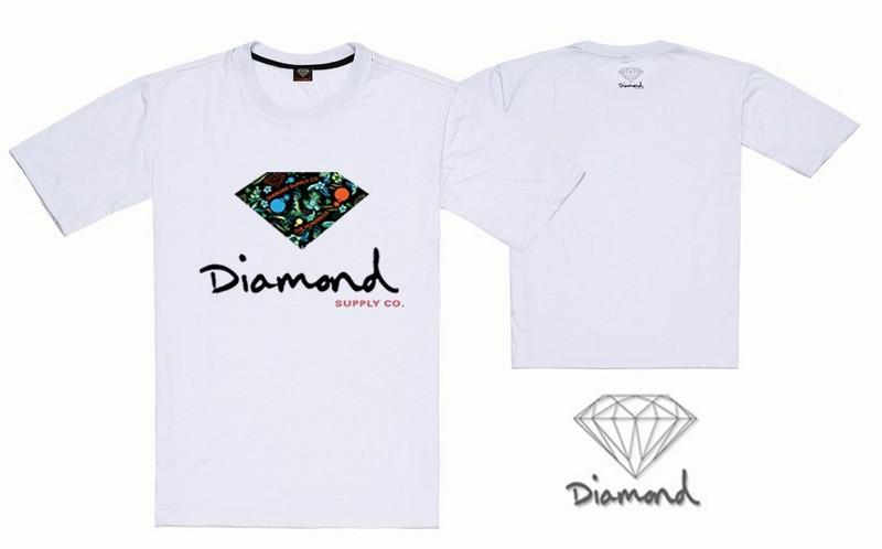 S-5xl Verão Moda Diamante Abastecimento dos homens Logotipo Impressão Design Exclusivo de Manga Curta camisa de hip hop T