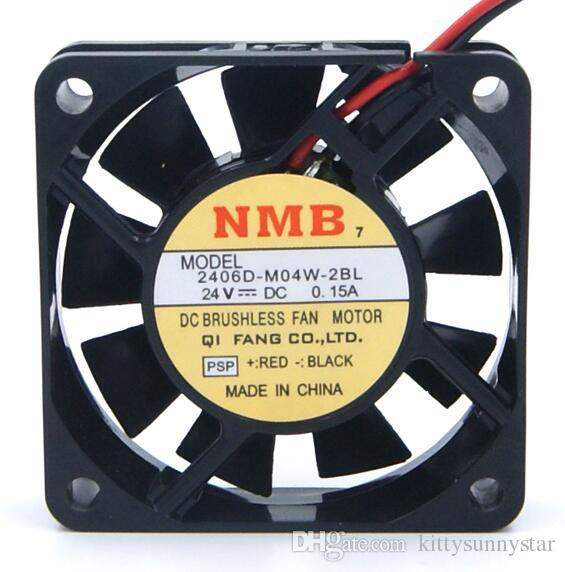 NMB-MAT 6 cm 2406D-M04W-2BL 6015 24V 2wire ventilador de enfriamiento