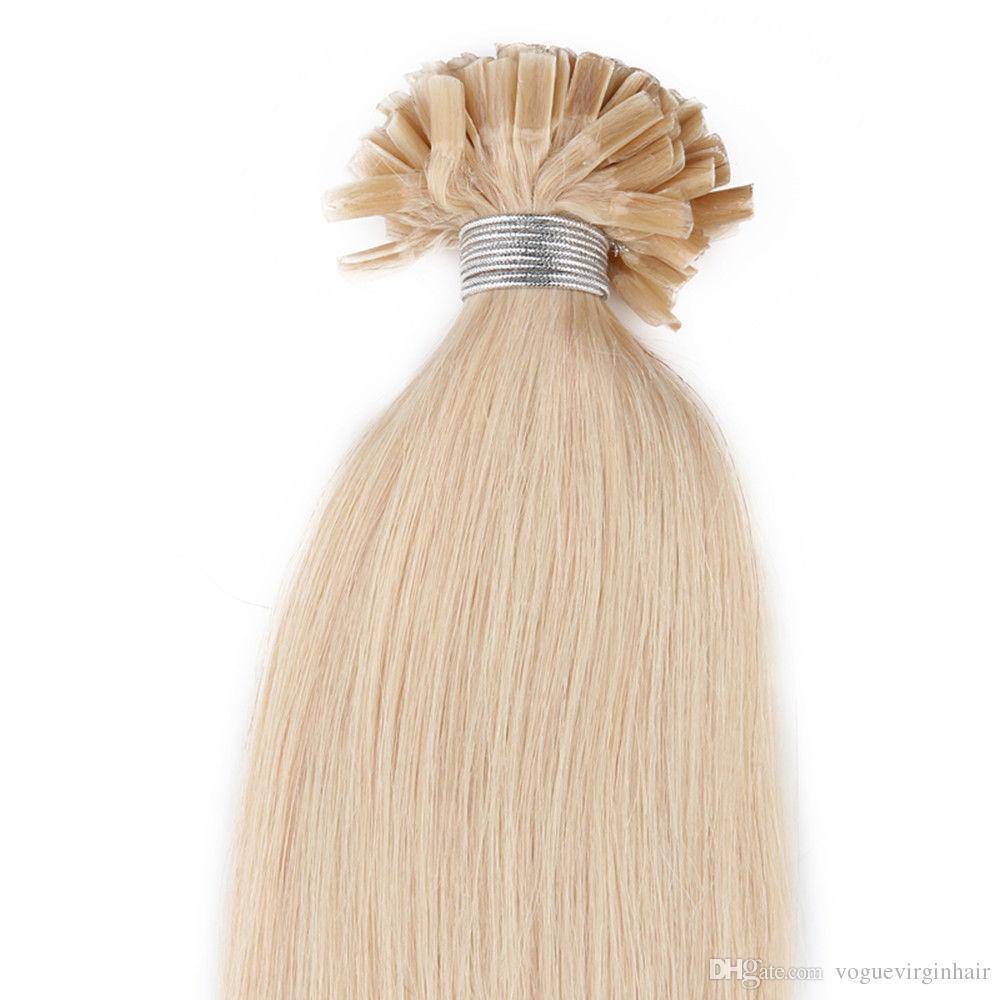 Pre-Bonded U Tip Hair Extensions Human 50g U-tip Extensions
