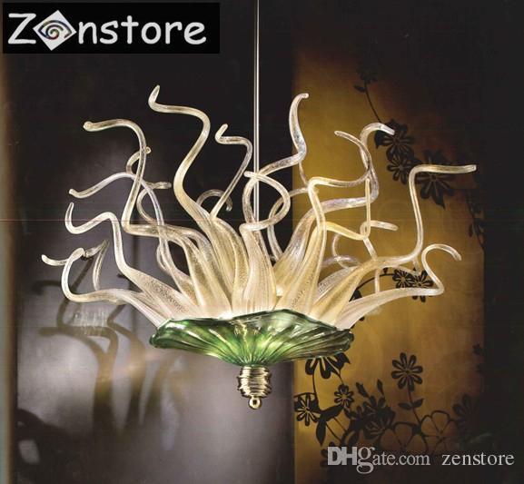 Лучшие продажи небольшой арт стеклянная лампа гостиная декор 100% ручной выдувного стекла люстры светодиодные люстры светильник