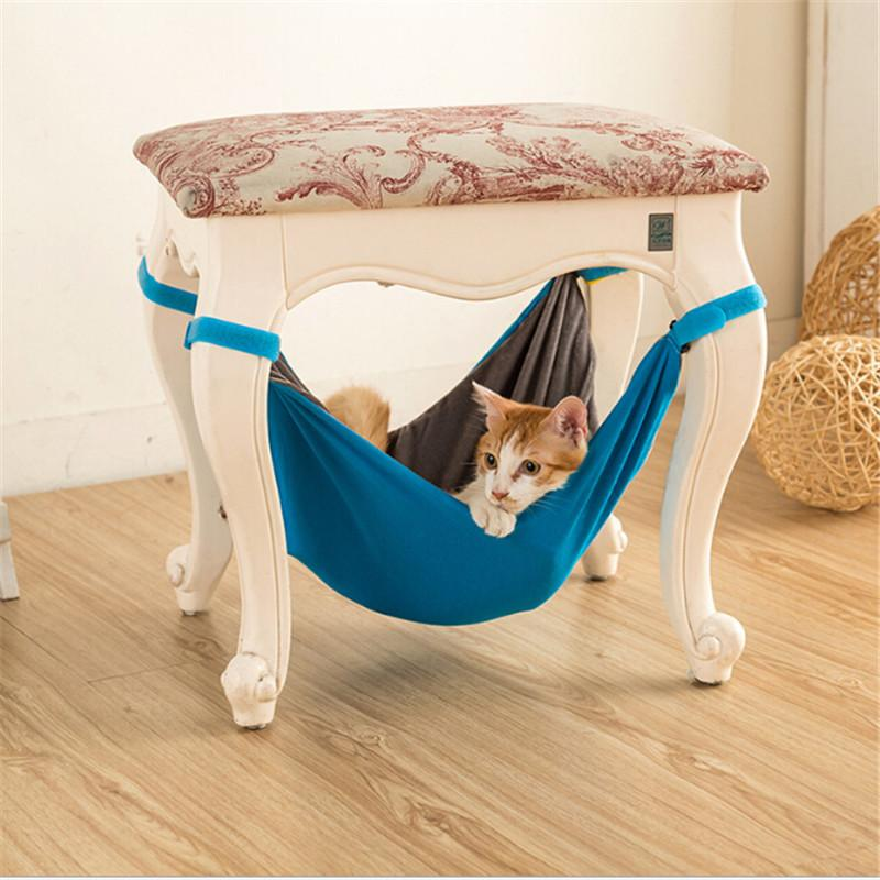 Detachable Pet Hammock Kitten Sleep Bed Cat Ferret Cage with Soft Polar Fleece Material Double sided