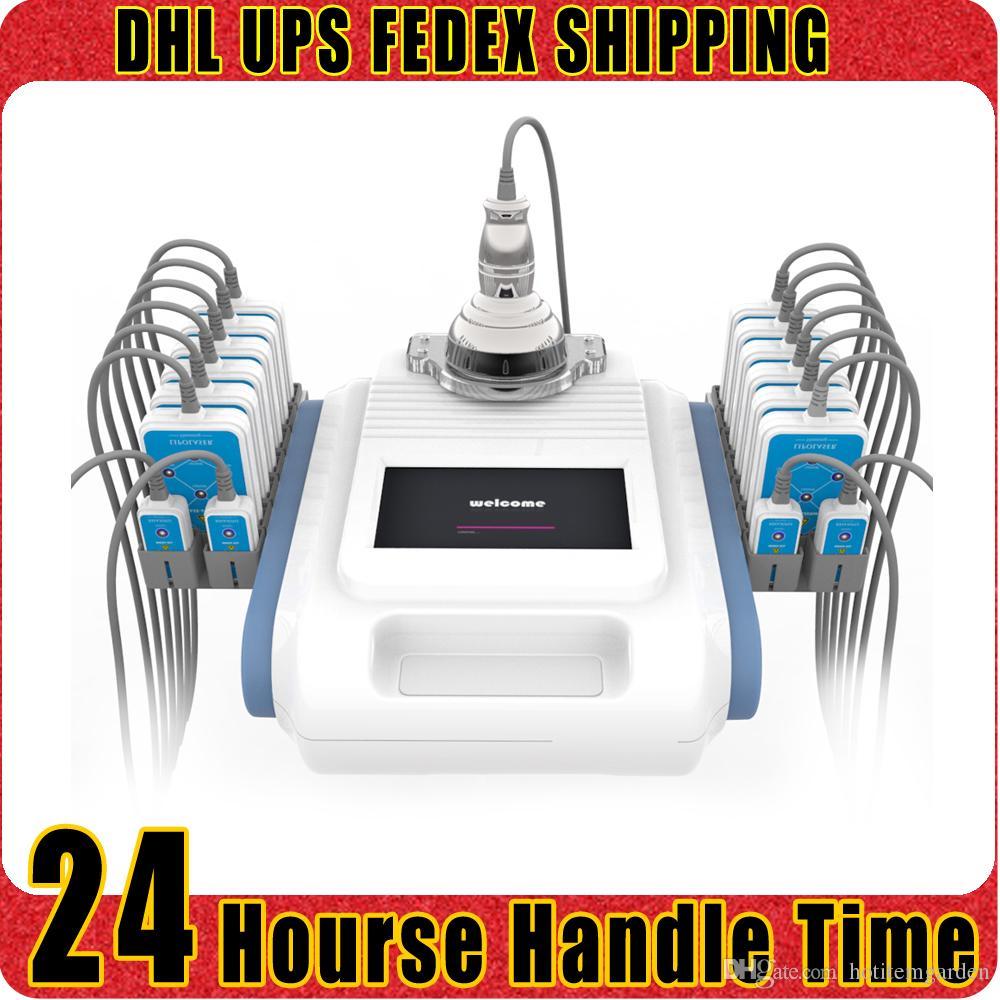 Ultrasons 40K Cavitation Cellulite Dissoudre Fréquence Radio Lipo Laser lipolyse LLLT de Salon Spa Machine minceur 16 Pads