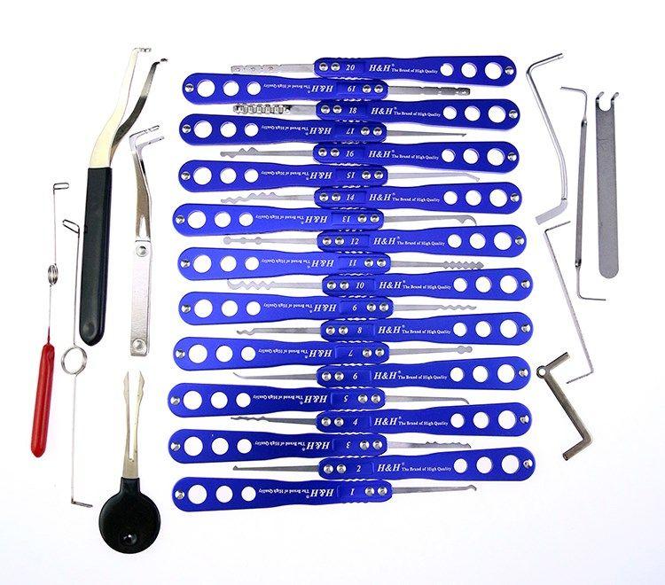 최고 품질 챔피언 시리즈는 1 개 잠금 추천 도구 세트 잠금 오프너 자물쇠 도구 자물쇠 따기 도구 세트에서 세트 (30)을 선택