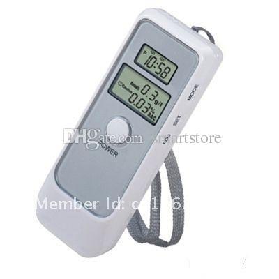 50pcs / lot # 5 in 1 Tester alcool Digital Breath Analyzer LCD Etillyzer Display LCD Bianco Spedizione gratuita 0001