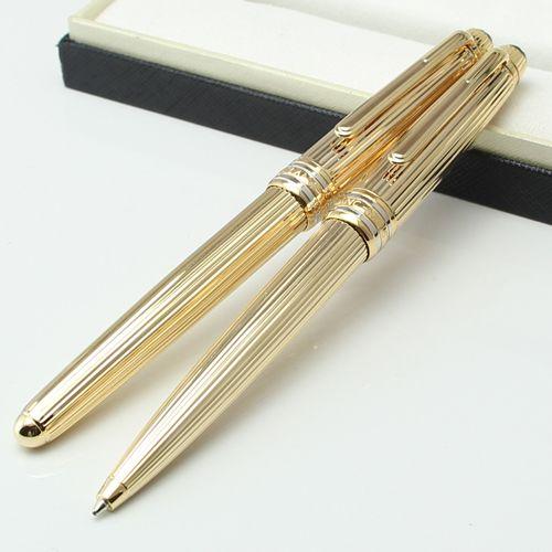 Luxo MT Cruzeiro Coleção Platinum Line Braid caneta esferográfica de ouro Alemanha Montel caneta para escrever com número de série