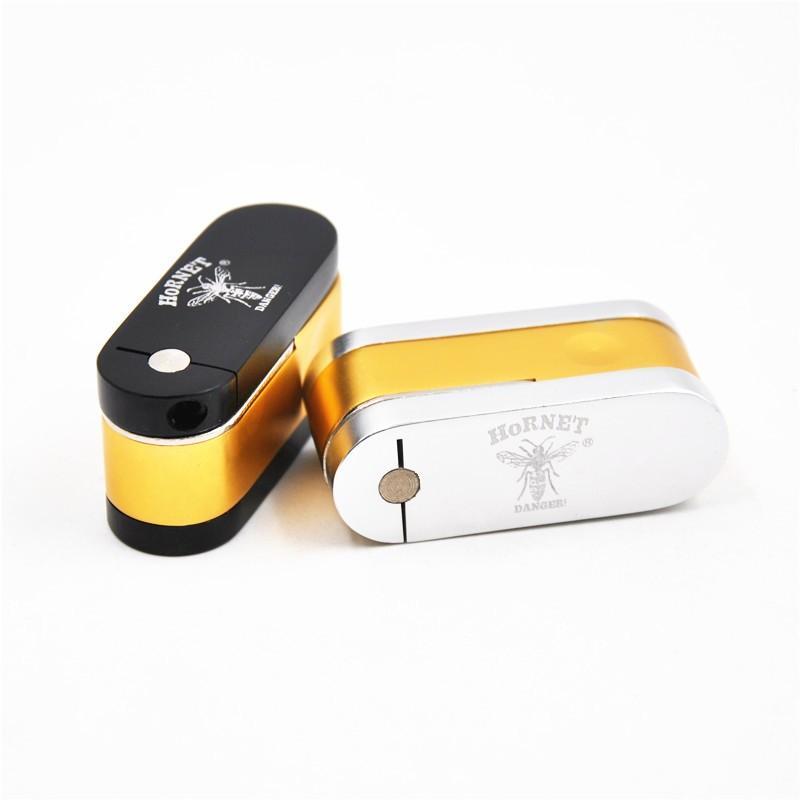 """""""Hornet"""" Design Design Twister Twister Brass e Pocket Chrome Pocket Pipe Tabacco Pieghevole Pieghevole Scimmia Tubo Minicheap Accessori per fumare"""