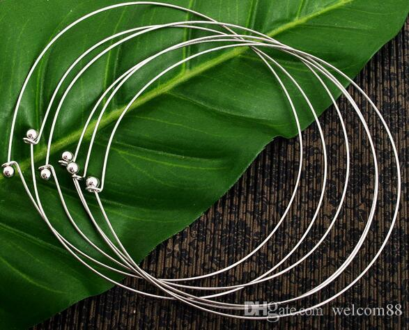 Free Shipping 10pcs/lot Silver Plated Chokers Necklace Cord Wire For DIY Craft Jewelry Gift 16inch W22*