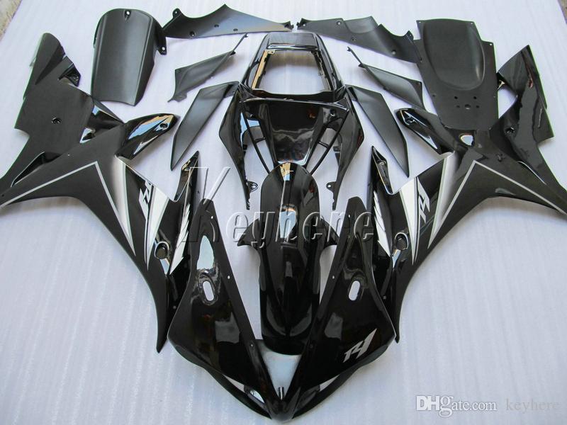 Motorrad Verkleidungsset für Yamaha YZF R1 02 03 schwarz glänzend Verkleidungsset YZF R1 2002 2003 OI19