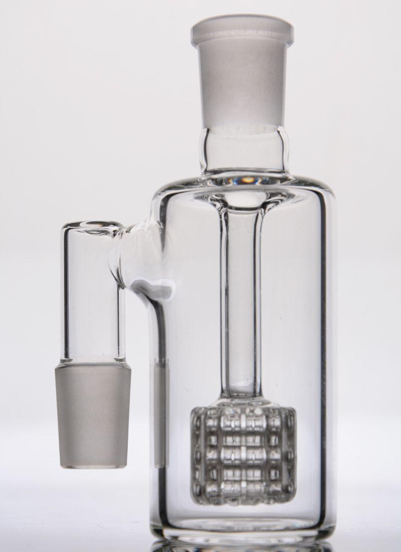 Großhandel Birdcage Aschefänger 14mm 18mm 90 Grad dicker Ashcatcher Percolator 18mm Glas Aschefänger Freies Verschiffen