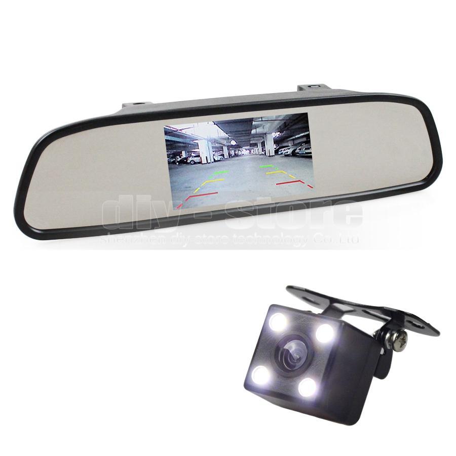 Auto-HD, das System-Hinterkamera-Auto-Kamera des Monitor-HD mit 4.3 Zoll Auto-Rückspiegel-Monitor-Auto-Monitor überwacht