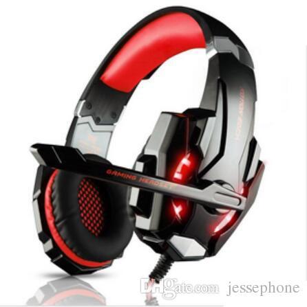 Nouveau Kotion pas cher Chaque G9000 Gaming Headset Headphone 3.5mm Stereo Jack avec Mic LED pour PS4 / Tablette / Ordinateur portable / Téléphone portable DHL